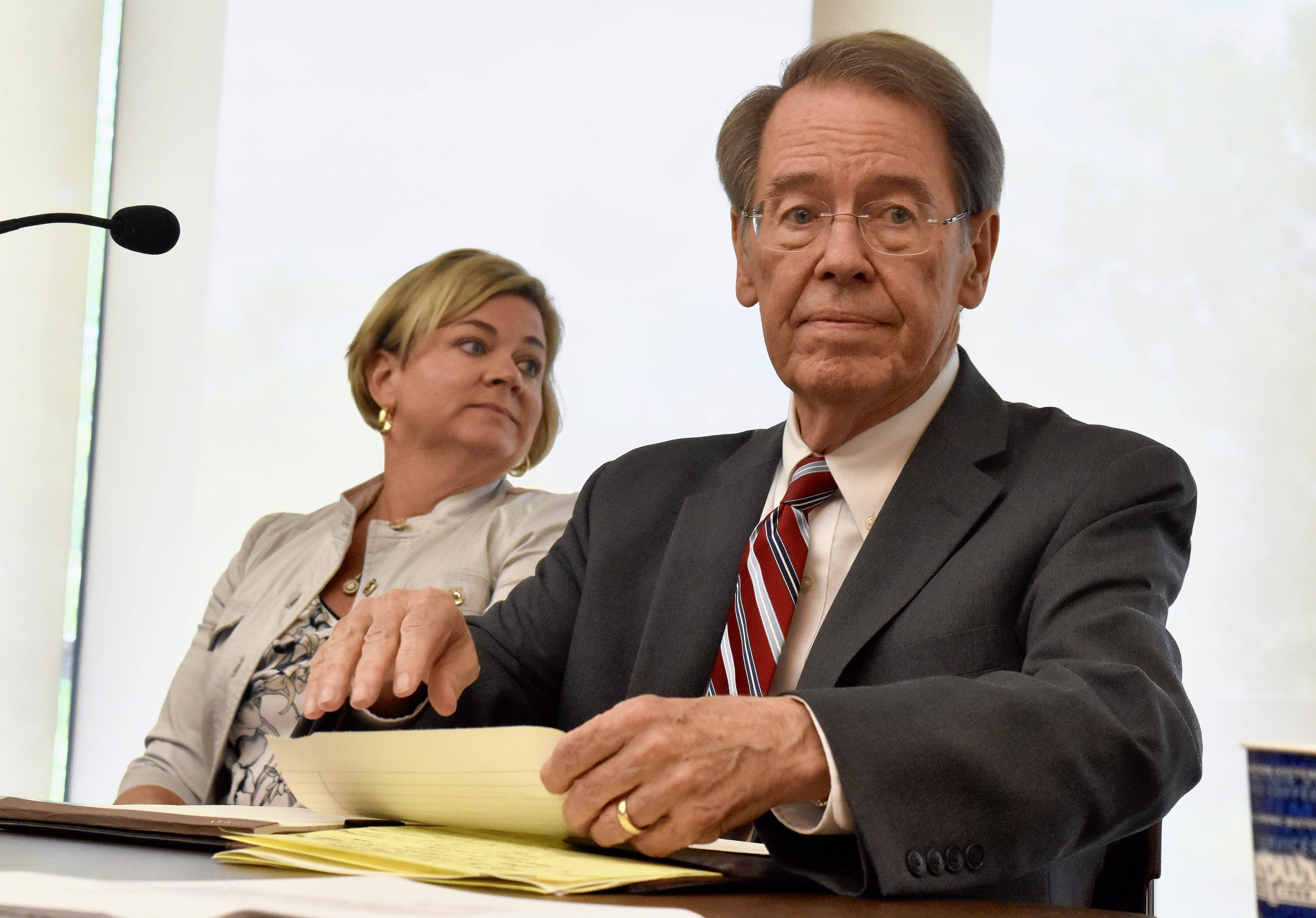 Geoff Ritter photoJ. Kevin Dorsey, who retired in 2015 as the dean and provost of the SIU School of Medicine, is the new president of the SIU system. Shown with him is Amy Sholar, chair of the SIU board of trustees.
