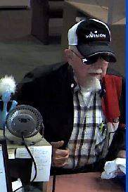 Authorities released this surveillance footage image of the suspect, identified as Arthur W. Bays.
