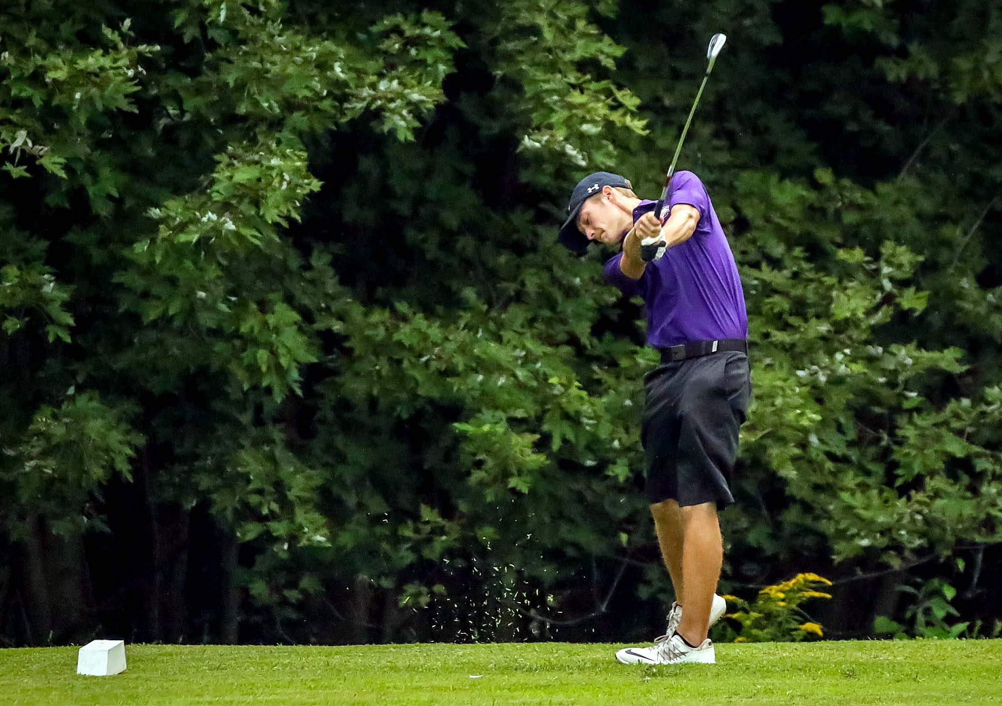 Eldorado's Evan Coyle shot a 38, sharing medalist honors in a four-team match with Hamilton County, Fairfield and Norris City-Omaha-Enfield earlier this week.