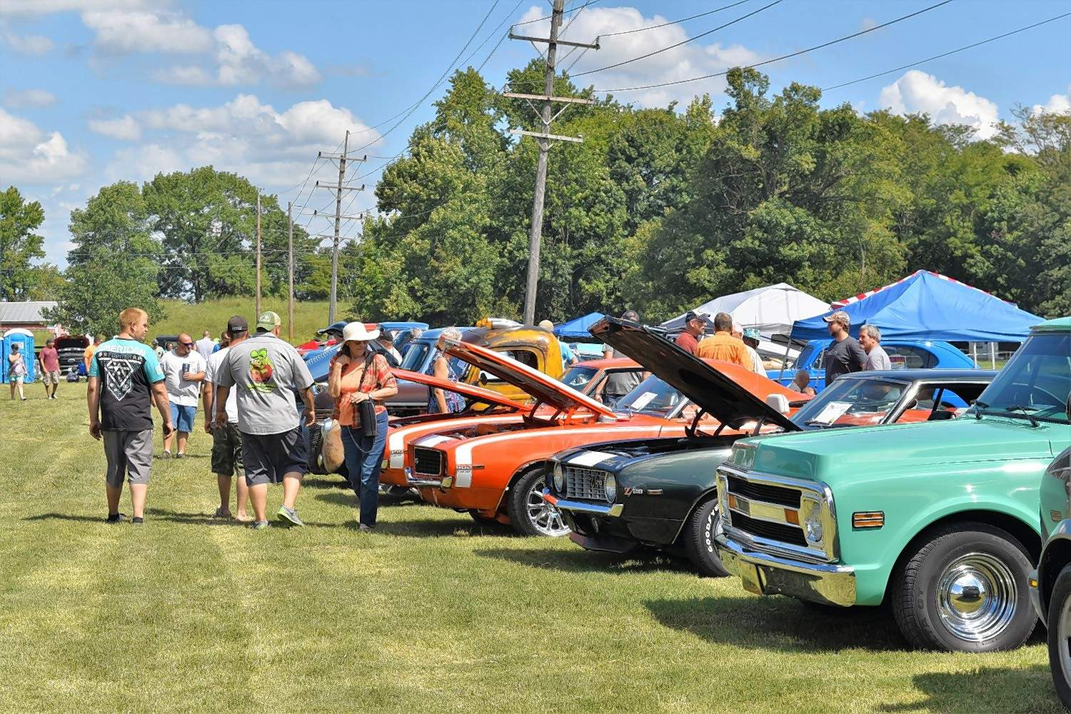 Cars on display at the Eighth Annual Memory Lane Autofest filled the Saline County Fairground Monday.