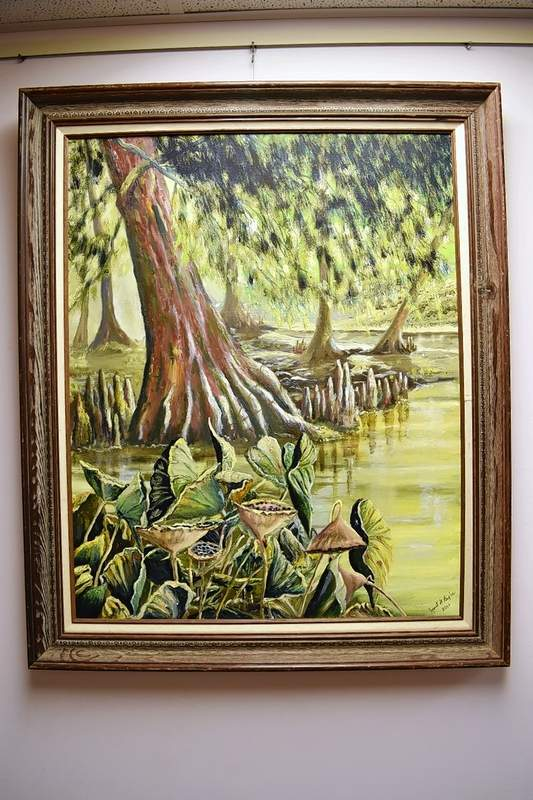 "A Janet Bixler painting, ""Mermet Lake."""