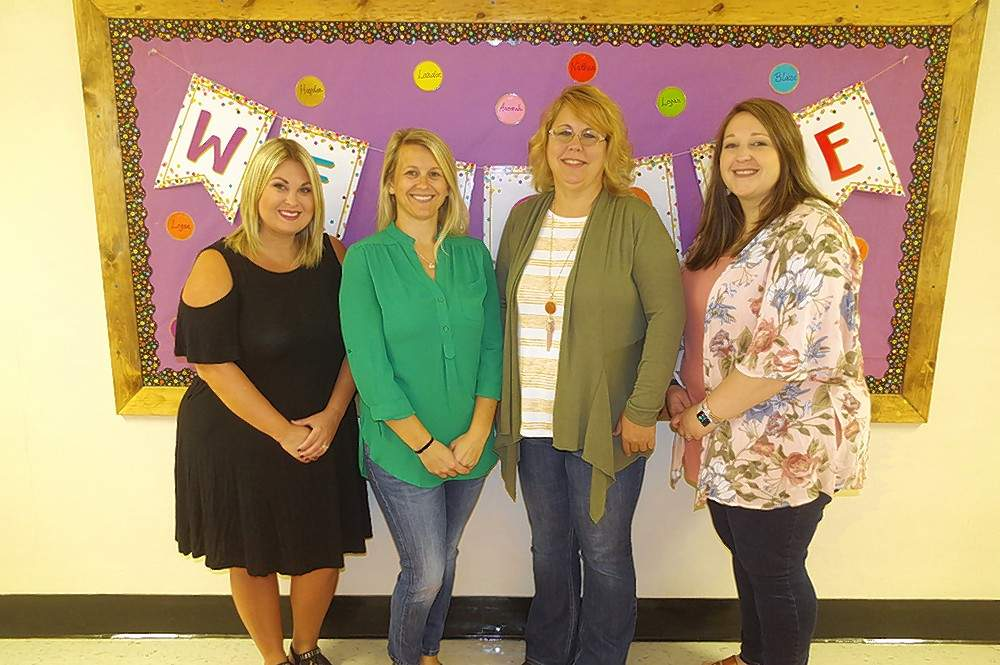 Randolph County Birth to Three Program staff members include, from left, Rachel Marshall, program supervisor; Melissa Duncan, Red Bud area coordinator; Vicki Thompson, Sparta area coordinator; and Lindsey Hargis, Chester area coordinator.