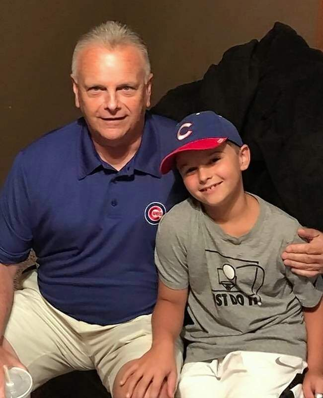 Ross Babington with his grandson, Brady, in a photo taken just a week before Ross became ill.