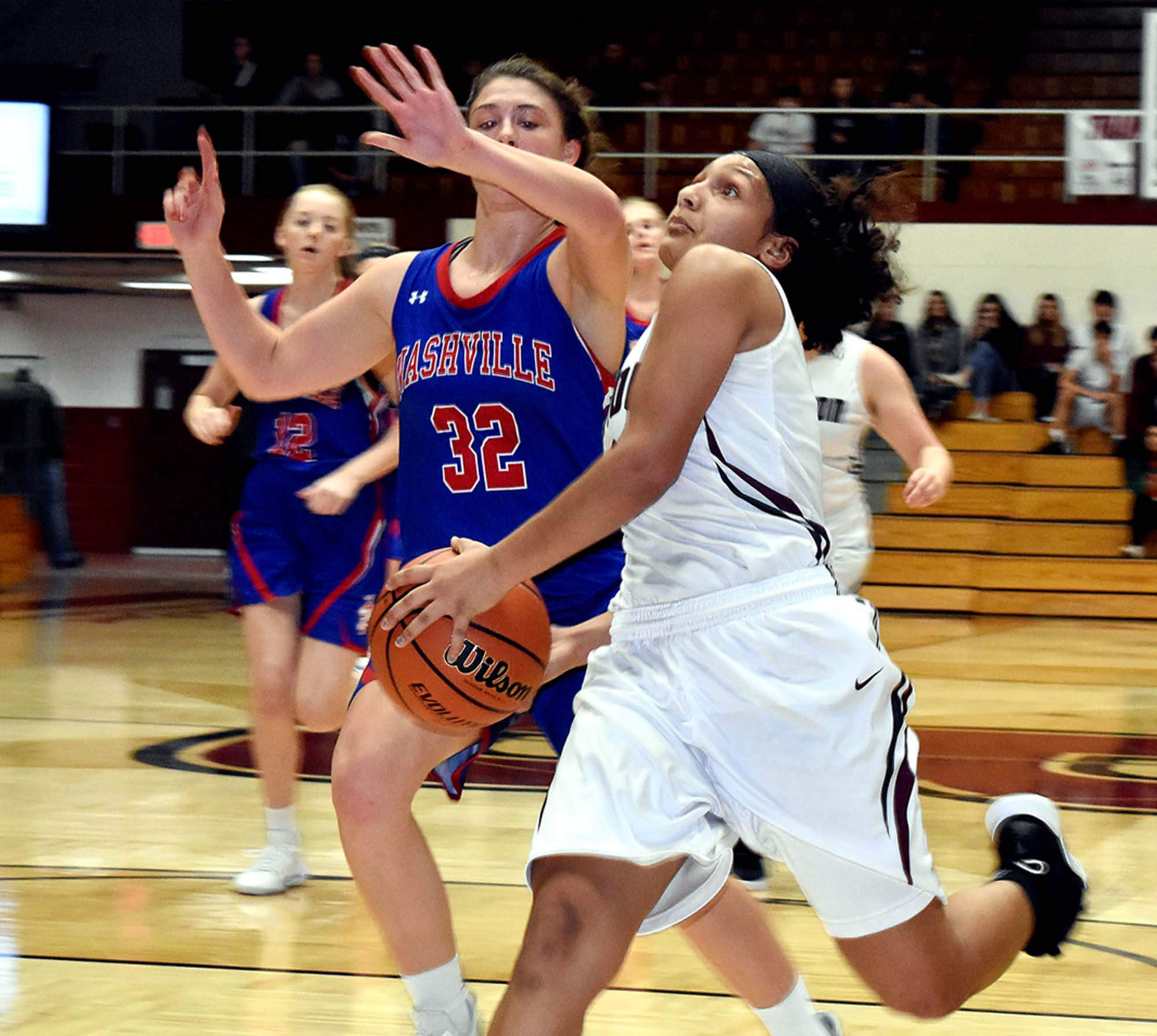 Benton High School junior Mady Wallace goes up for an uncontested layup during the Rangerettes game against Nashville's Hornettes Saturday at Rich Herrin Gym. Wallace scored 11 points, sharing high-point honors with Addisyn Miller. Benton High School junior Mady Wallace goes up for an uncontested layup during the Rangerettes game against Nashville's Hornettes Saturday at Rich Herrin Gym. Wallace scored 11 points, sharing high-point honors with Addisyn Miller.