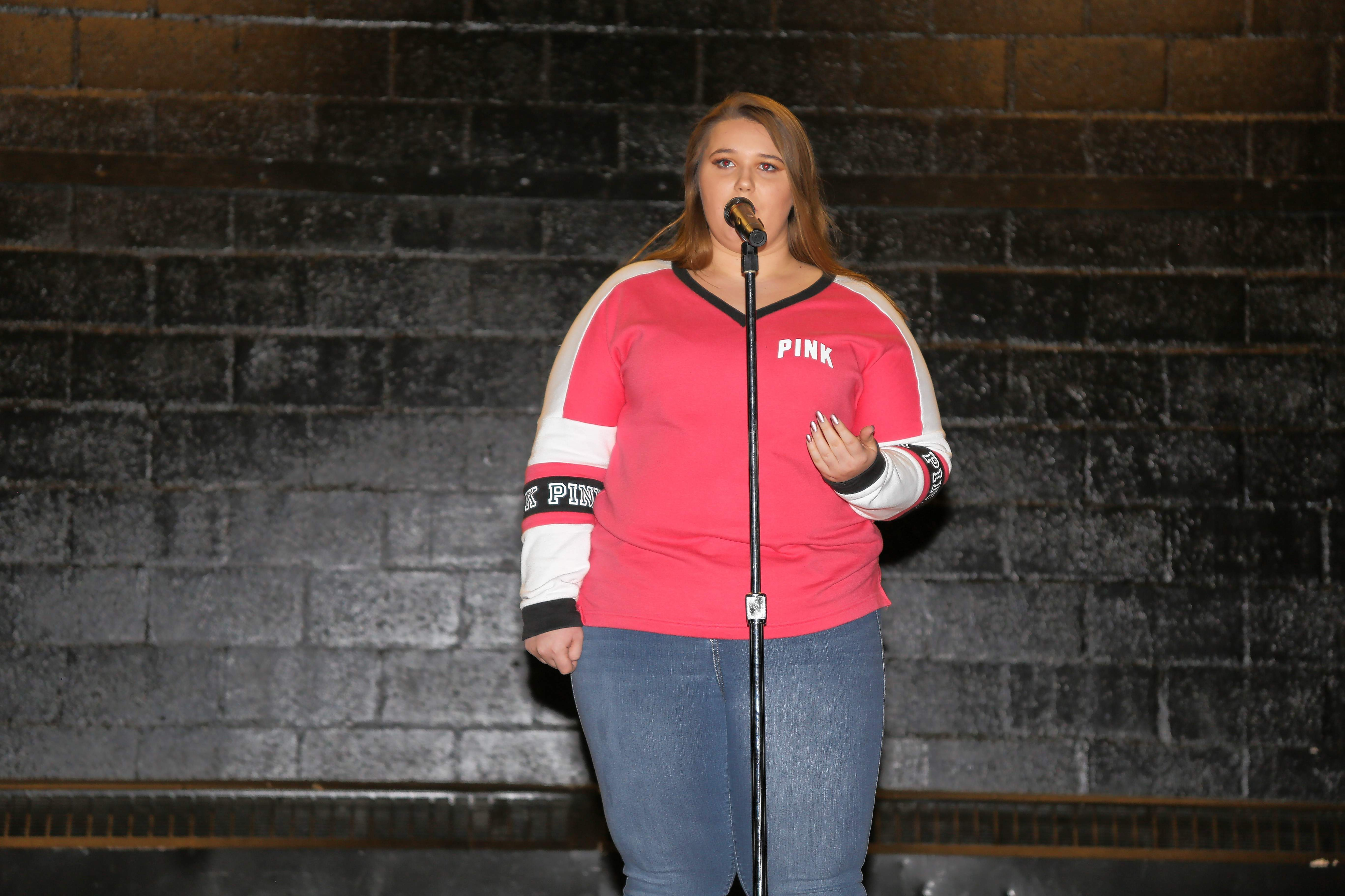 """Bailee Wright performs her championship cover of """"Stay"""" at the CMSF talent show."""