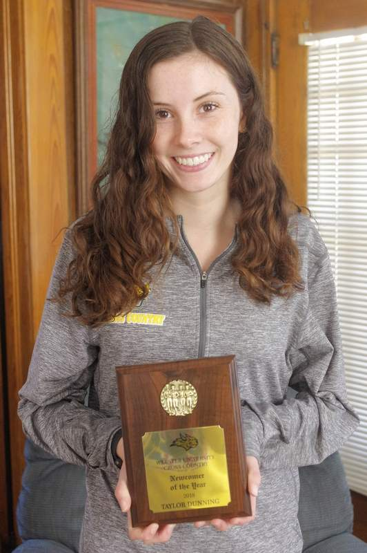 Former Chester High School track and cross-country standout, Taylor Dunning, is the 2018 Webster University Cross Country Female Newcomer of the Year.