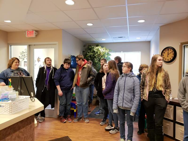 Career Day also took students to The Life Network in Waterloo.