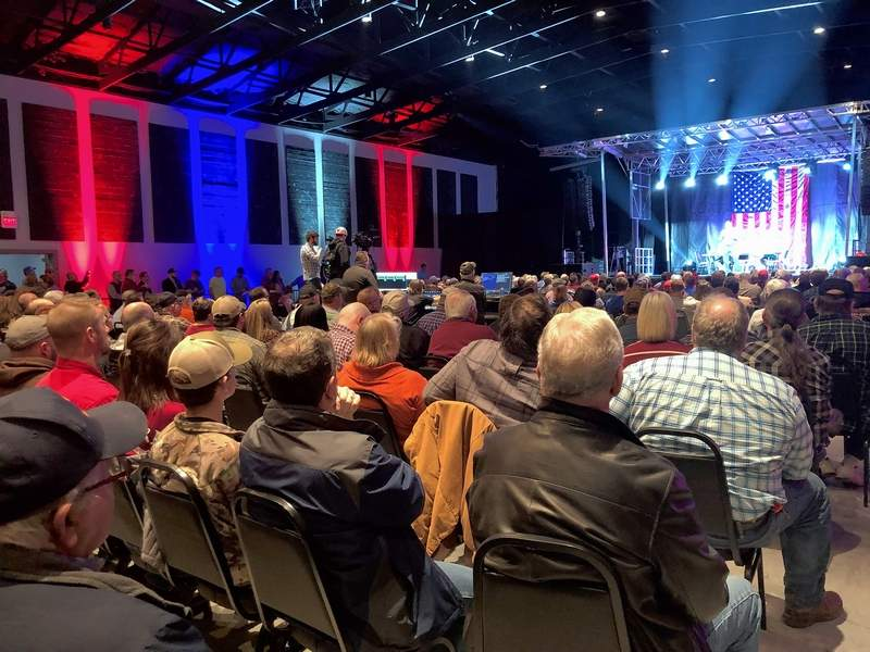It was a packed house as nearly 450 people from several counties packed the Midwest Event Center north of Marion Monday evening for a town hall meeting.