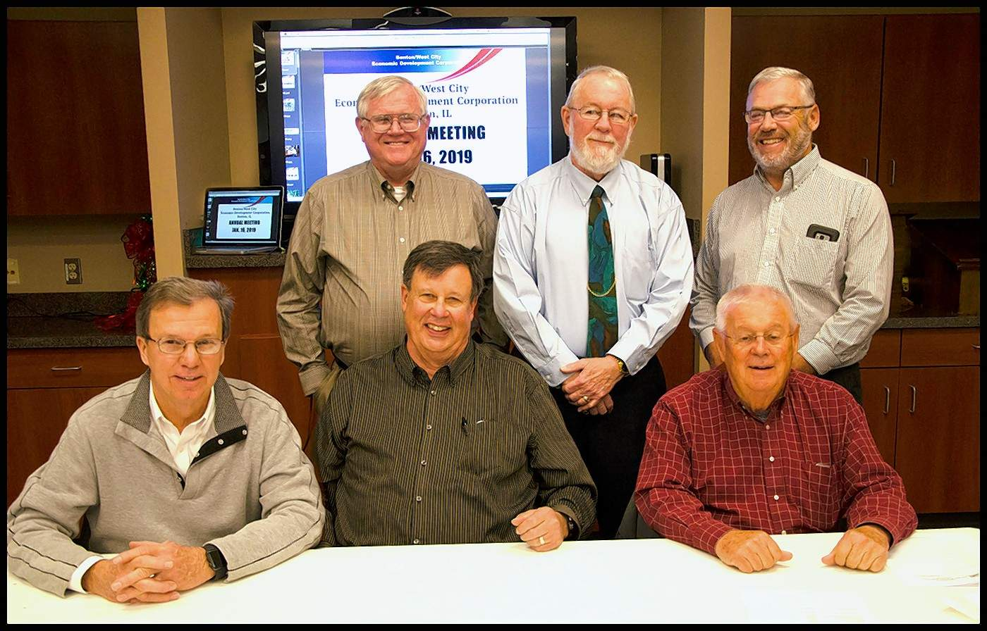 At the last annual meeting of the Benton/West City Economic Development Corp., a new executive board was elected. It includes John Huffman as chairman, Dick Rice as vice chairman, Hervey Davis as past chairman, Mike Brachear as secretary, Bill Simpson as treasurer and Dave Cooper as executive director.