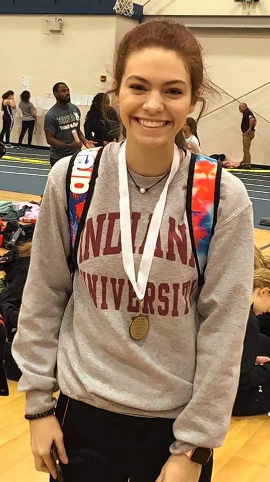 Sophomore Lauren Soellner medaled in the high jump.