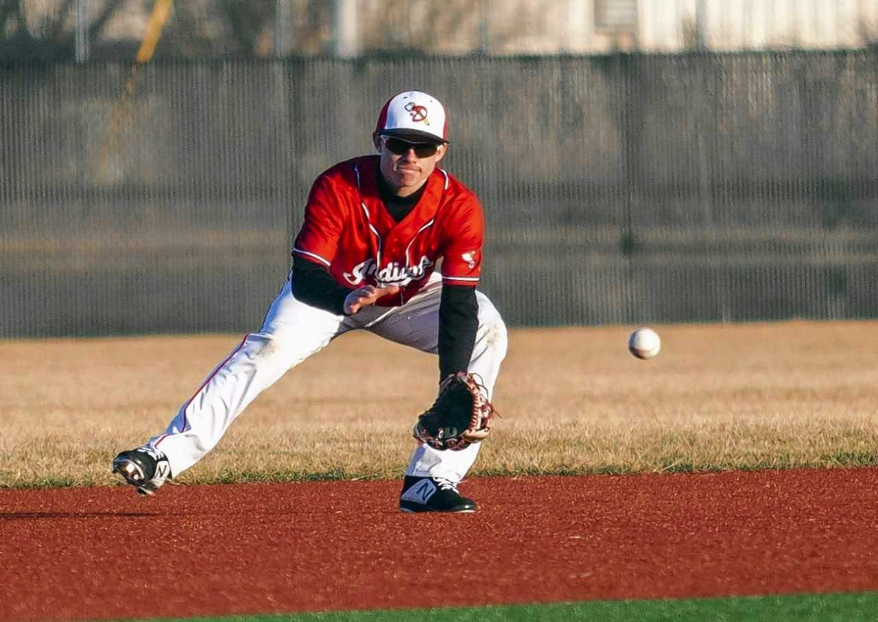 Du Quoin shortstop Alex Zimmerman fields a ground ball in game action Monday with the Rangers.