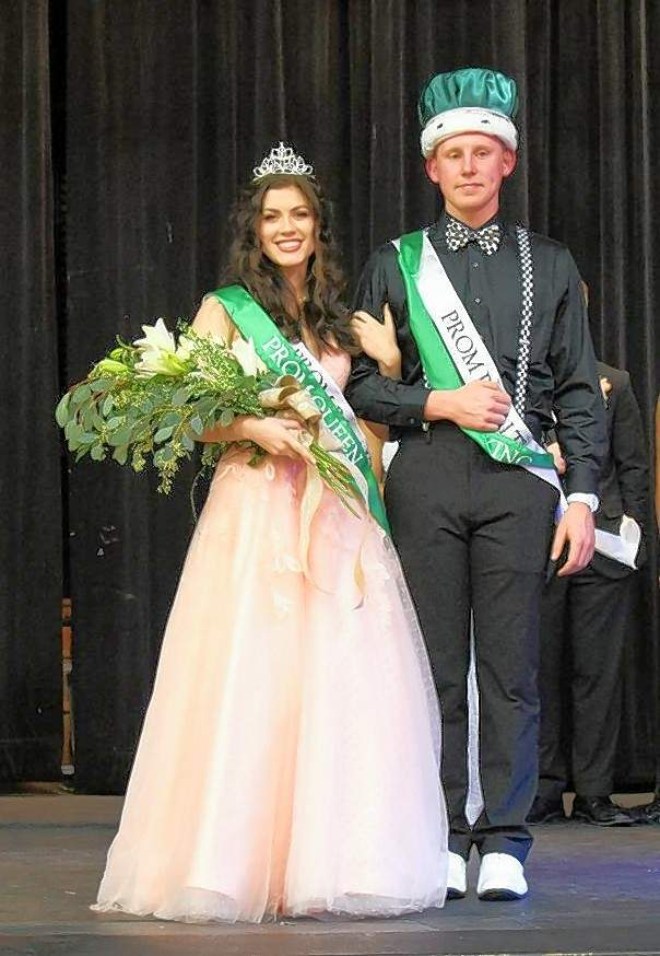 Seniors Elizabeth Soellner and Jakob Cushman were crowned prom queen and king on Saturday evening.