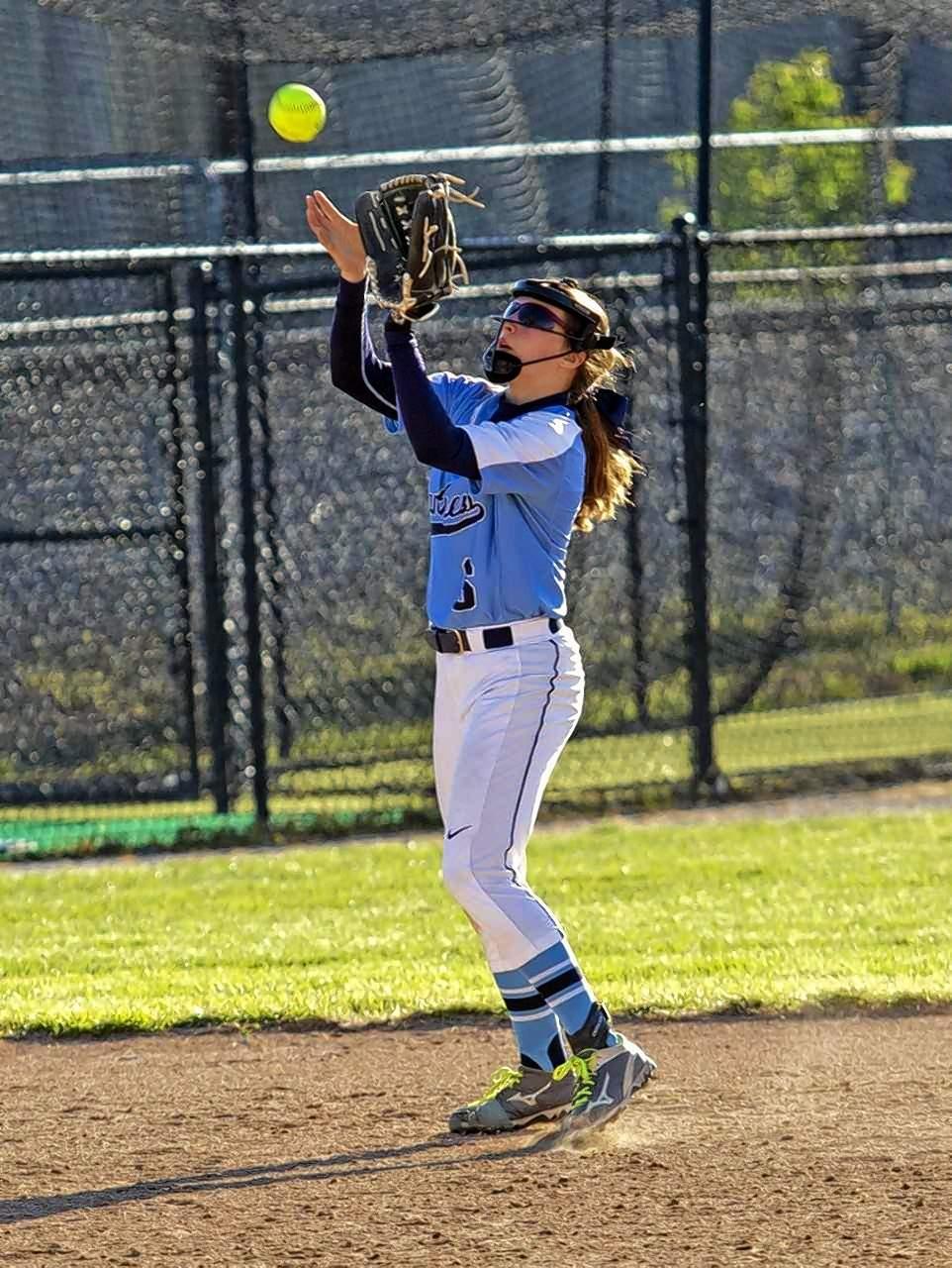 PCHS shortstop Taylor Kurtz clamps down on a pop-up.