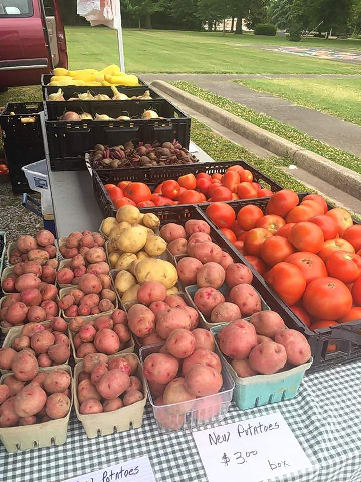 This photo from last year's market shows just a few of the fresh items available at the Benton Farmers Market, set to open on May 2.