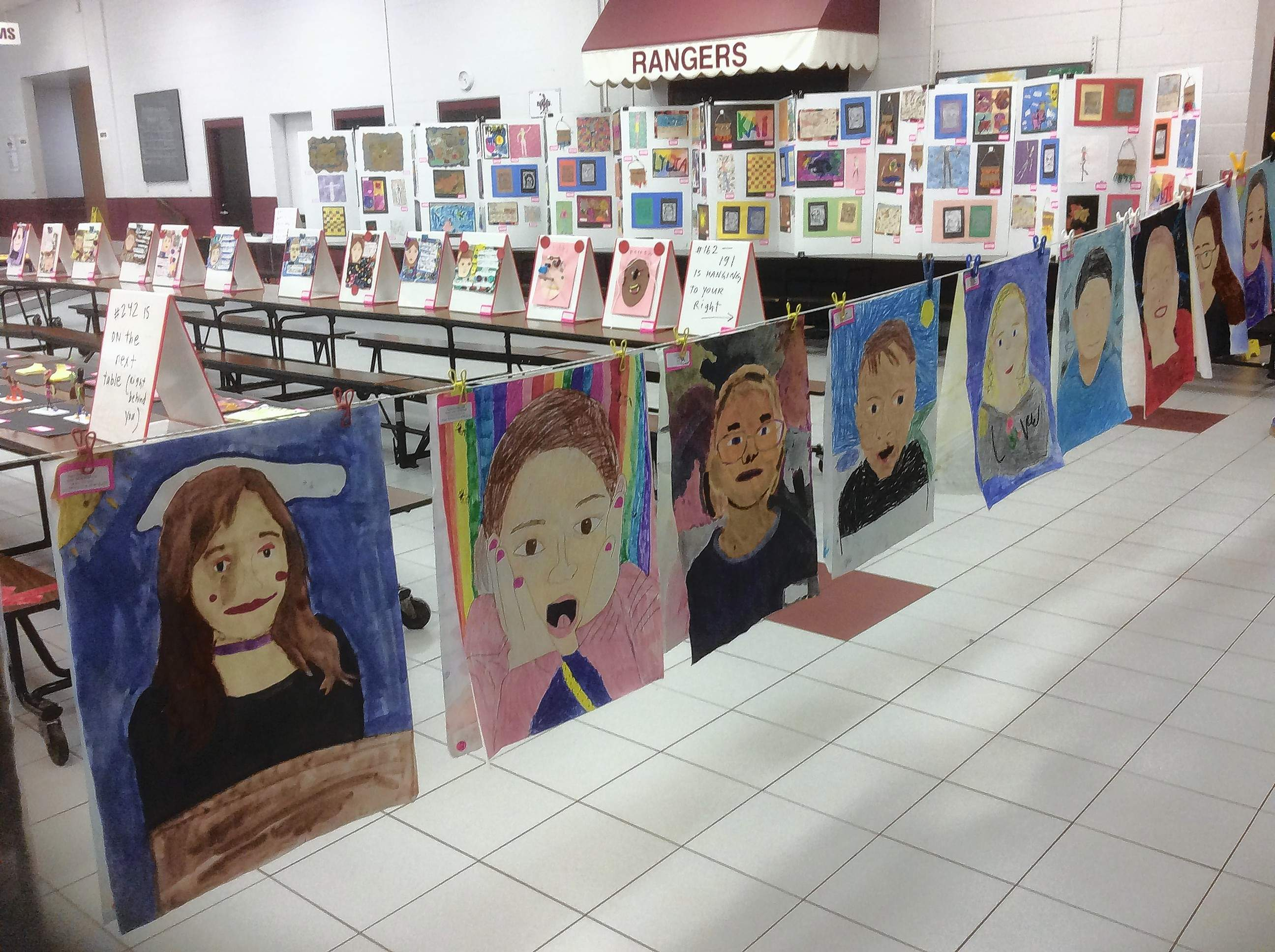 Hundreds of works of art were on display April 23 in the Benton Middle School Gymnasium and Commons.