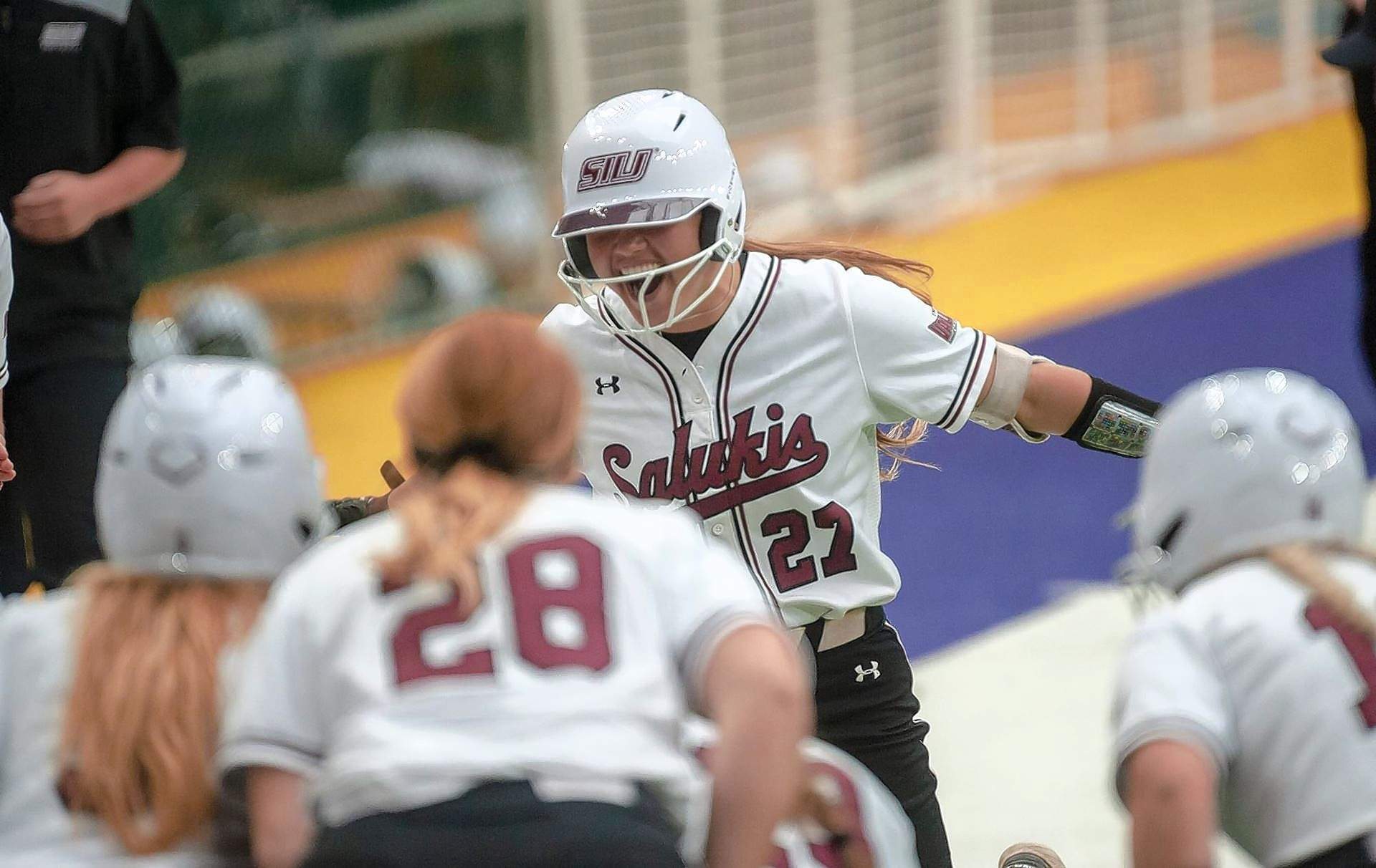 SIU's Maddy Vermejan led the way for the Salukis at the plate Sunday against UNI as she went 3-for-4.