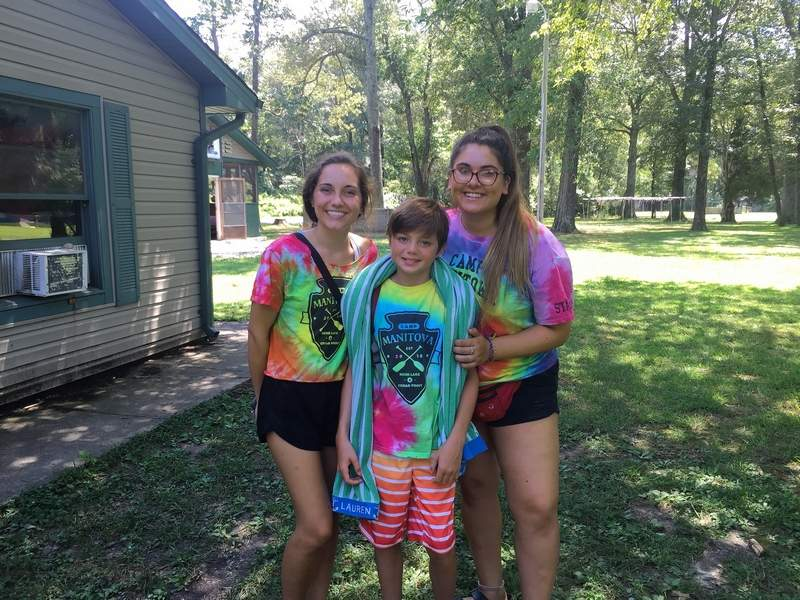 For Maddie Hewitt, left, Quinn Gaffney and Maya Poger, Camp Manitowa is about friendships.