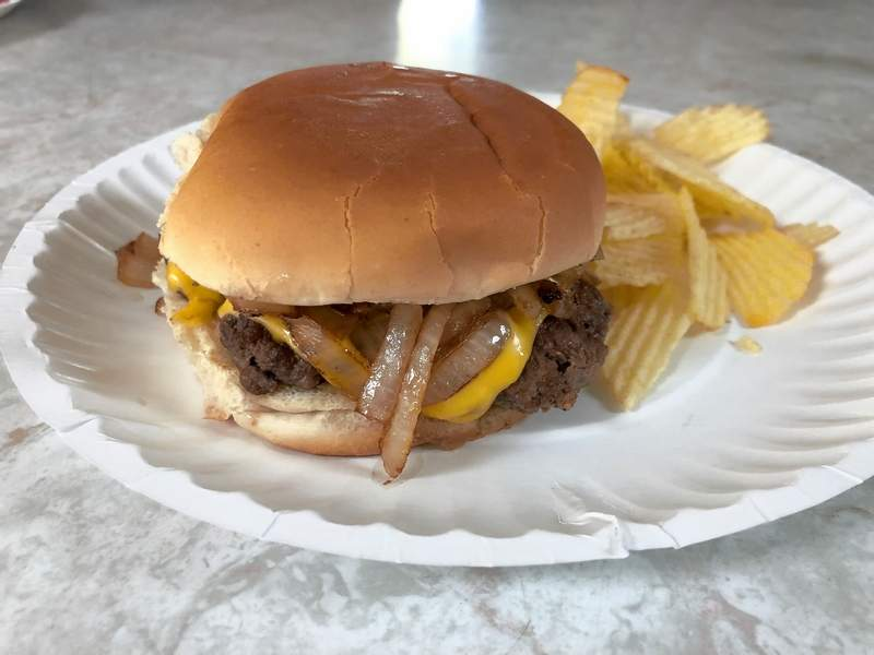 """The popular """"Sadie Burger"""" is served up with no frills, just a great taste."""