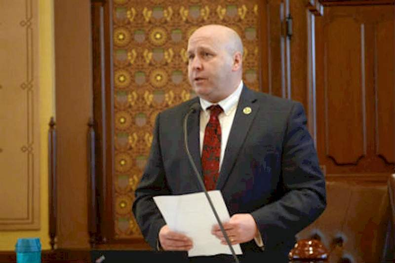 Sen. Tom Cullerton, D-Villa Park, is pictured here speaking on the Senate floor at the Capitol in Springfield. On Friday, Cullerton was indicted in federal court  on allegations he conspired to embezzle from the Teamsters Joint Council 25 and Teamsters Local Union 734 Unions. Cullerton, who has been in office since 2013, is also facing one count alleging he lied on health forms.