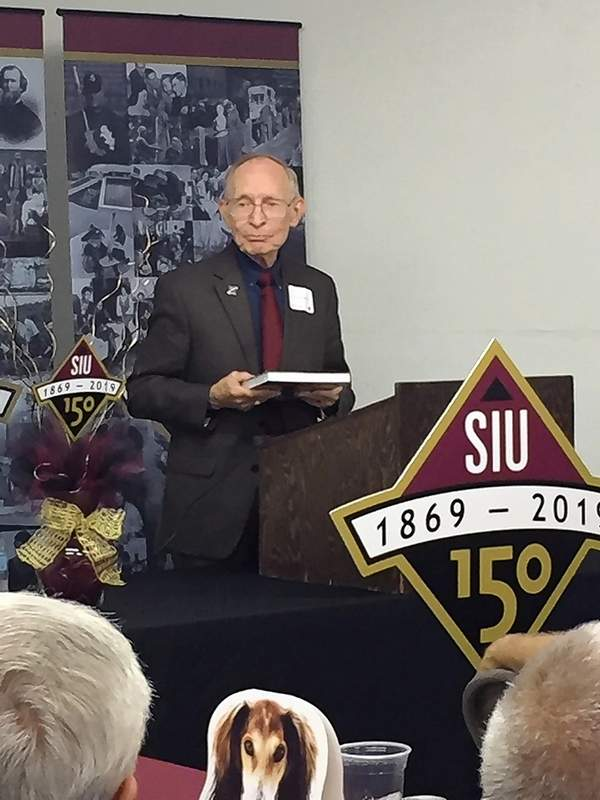 "John Jackson, former SIU chancellor and editor of ""Southern Illinois University at 150 Years,"" discusses the university's history."