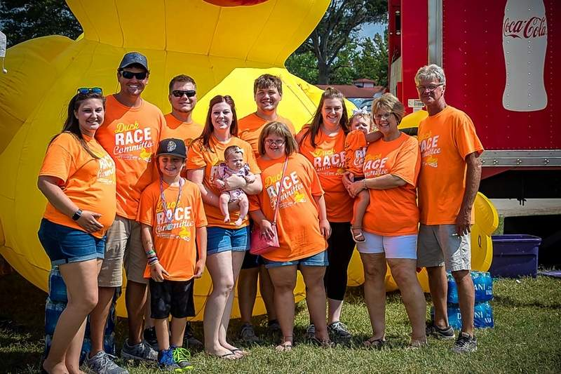 The Asbury Family is pictured from left: Caitlin Asbury, Nolan Carney, Maddux Carney, Nick Baskin, Lindsay Baskin, Amelia Baskin, McKinley Carver, Brenna Asbury, Emily Asbury, Alba Baskin, Jill Asbury, and Bill Asbury.
