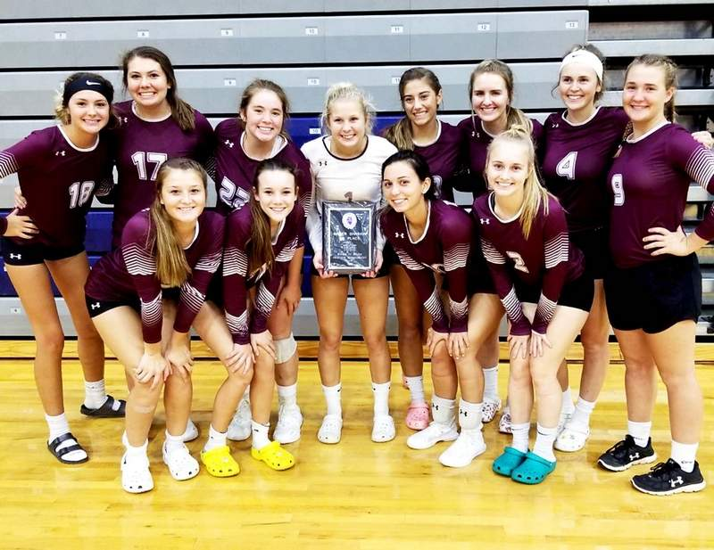 The Benton volleyball team won the Silver Division at this past weekend's Southern Illinois River-To-River Conference Tournament at Carterville High School.