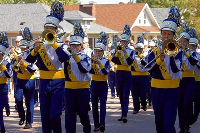 Trico High School marching band in the parade.