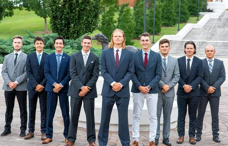 Pictured are members of the SIU men's golf team, which was competing Monday and today at a tournament in Birmingham, Ala.
