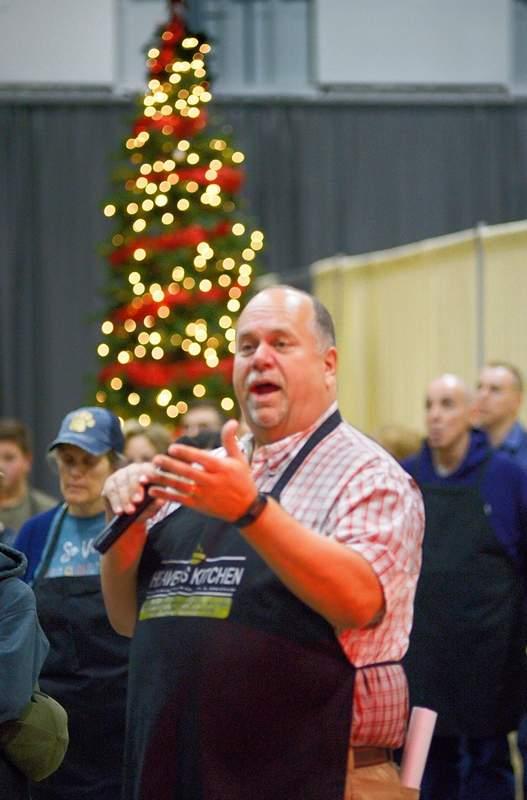 Marion pastor John Holst of Marion's United Church of Christ gave the opening prayer prior to the Thanksgiving dinner Thursday.