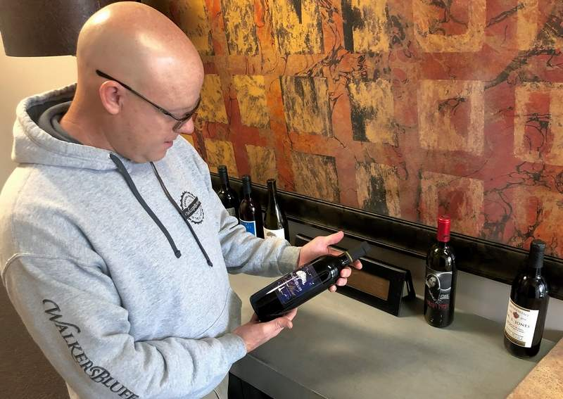 Walker's Bluff vintner Ryan Phelps explains the differences in the 20 or so wines bearing the WB label.
