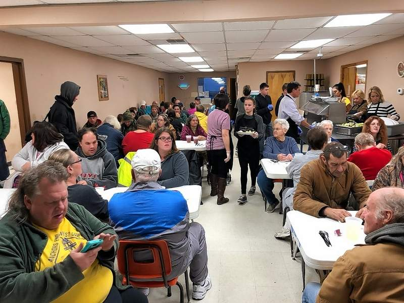 It was another full house last week at Heaven's Kitchen Marion. Robin Johnston of Harrisburg provided the musical entertainment for the meal, which included fried chicken patties, veggies, mashed potatoes and salad. Dinner will be served at 5 p.m. tomorrow at the Ministerial Alliance, 103 E. Calvert St. Everyone is welcome. Anyone who would like to volunteer, donate, entertain or sponsor a meal can email to volunteer@heavenskitchenmarion.org.