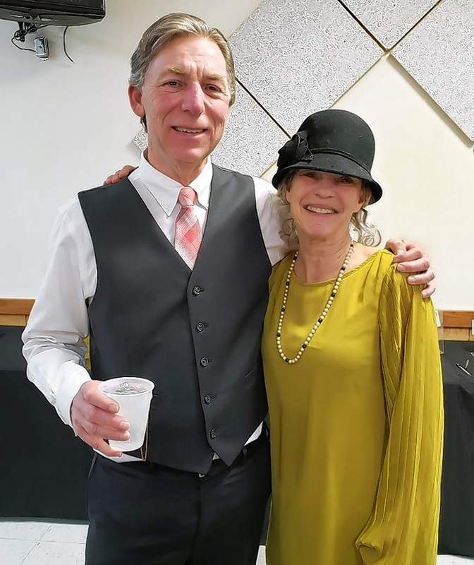 Gene and Patricia Gross, dressed charmingly in the Roarin' 20s theme, are co-owners of St. Nicholas Brewing Company in Du Quoin. Patricia is also on the Du Quoin chamber board.