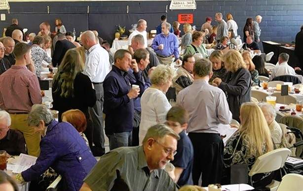 St. Mary's gymnasium was packed with people who enjoyed the gala.