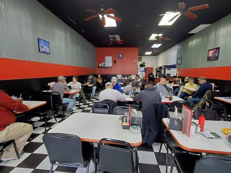 The lunch crowd Monday at Kalin's Cafe in Du Quoin.