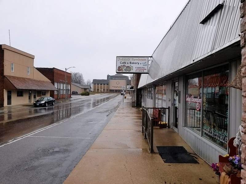 A deserted State Street on Tuesday, with Jodie's Farmhouse and Bakery closed to the right.