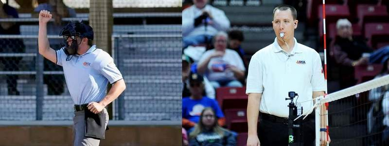 (Left) Pinckneyville's Corey Hastings and (right) Benton's Chris Kays  are currently on the sidelines due to the COVID-19, thus unable to earn an extra income.