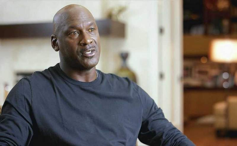 """Michael Jordan is interviewed for """"The Last Dance,"""" which debuts Sunday on ESPN."""
