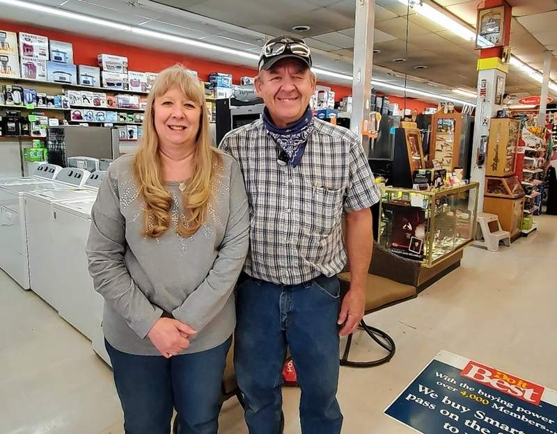 Joan and Donnie Toler say business is actually up about 20% over last year at Tolers Do It Best.
