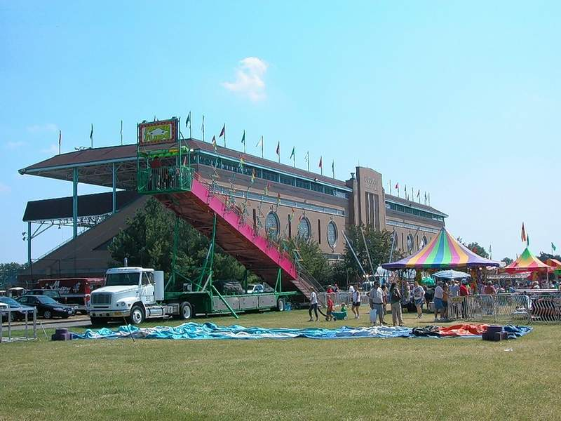 The Art Deco treasure that is the Du Quoin Fairgrounds grandstand, could be empty this year