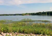 The campground and marina at Little Grassy Lake, shown here from the boat ramp across the lake, is now open. See the story on page 3.