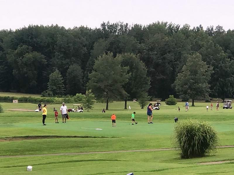 Around 100 kids enjoyed a day of golf at last year's Clothes for Kids Jr. Golf Day, which raises money for the Fowler Bonan Foundation.