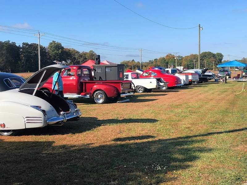 Along with vendors and treasure hunters, car enthusiasts were also drawn to Picker's Outlet JunkFest on Sunday afternoon for a car show featuring around two dozen vehicles.