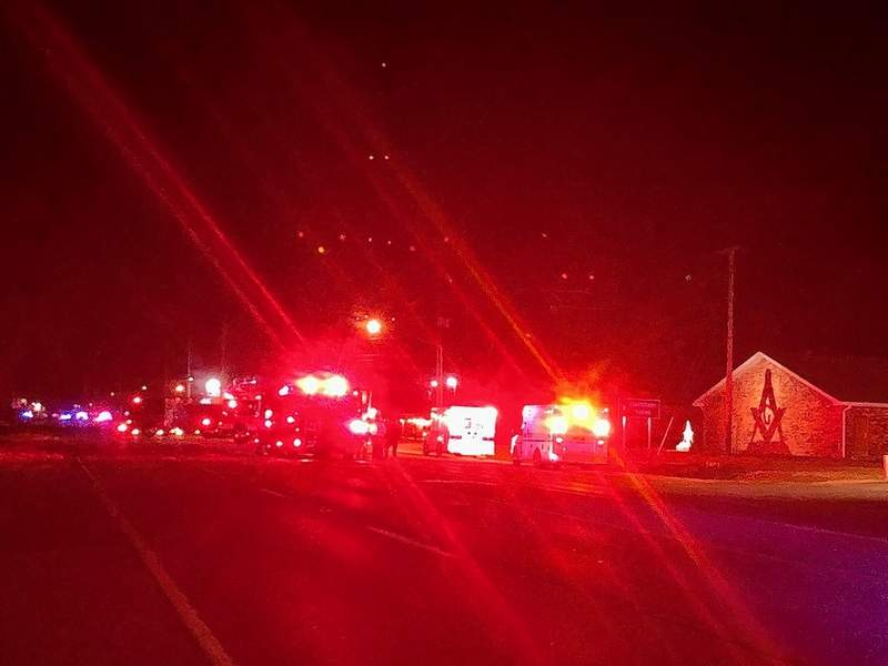 Police blocked off both ends of Route 51 Wednesday night, diverting traffic away from the ISP headquarters.
