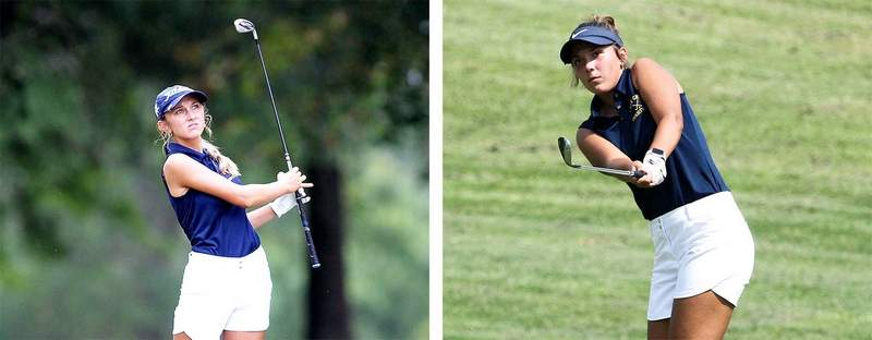 The Marion duo of Sarah Capel (left) and Baylee Kelley were both named to the Class AA Girls All South Team.