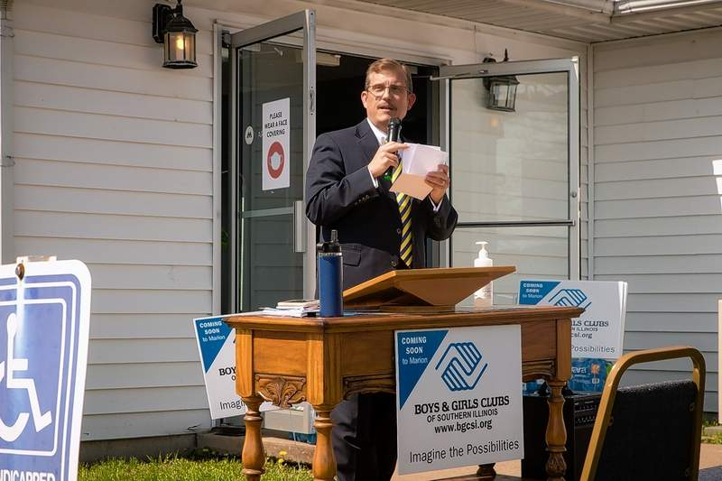 Marion Mayor Mike Absher told those gathered on Tuesday morning about the potential and opportunity for children of Southern Illinois to excel throughout life with help from The Boys and Girls Club of Southern Illinois, coming soon to Marion.