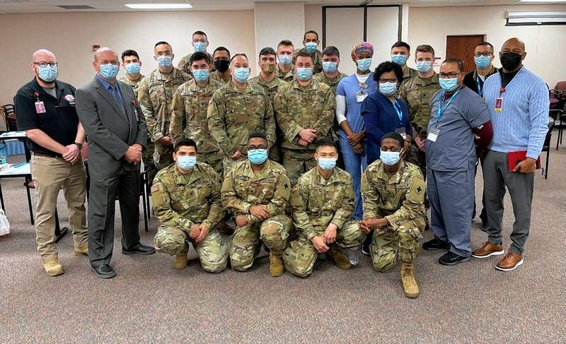 Members of the Illinois National Guard joined by HRMC staff held a vaccination clinic last week. Another clinic is scheduled for Apr. 12.