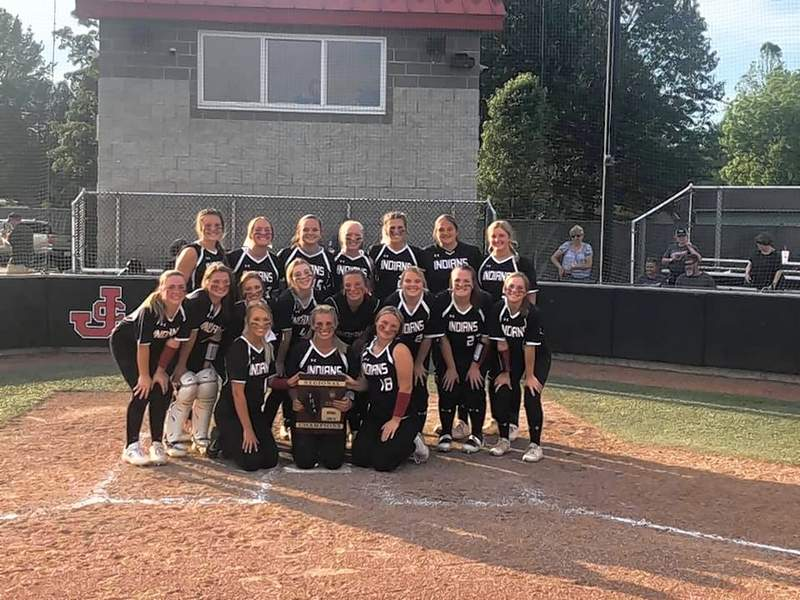 JOHNSTON CITY -- Mia Basenberg's sixth inning home run was icing on the cake for the Johnston City Lady Indians who secured the 2A Regional championship at home against Carmi-White County on Saturday. Johnston City put two runs on the board when Emma Moake doubled in Madison Weber before scoring on a sacrifice fly, sealing the fate of the game. The Lady Indians will face Trico in Campbell Hill today at 4:30 in the sectional finals.