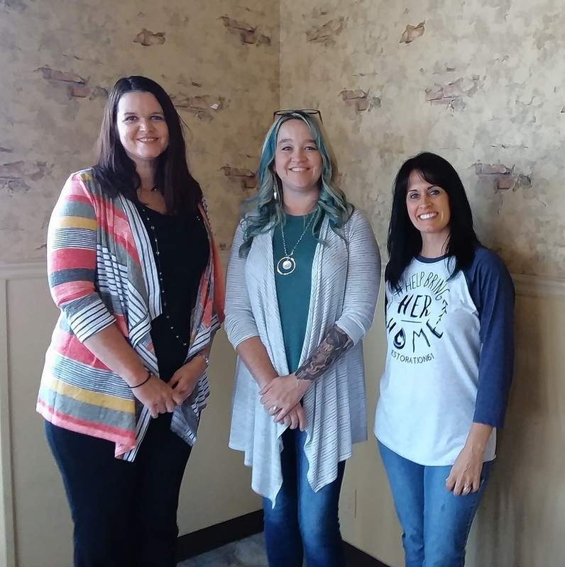 From left, President Elect Keya Pate, Sarah McHargue and Gayla Titsworth. Not pictured:  program sponsor Amy Short.