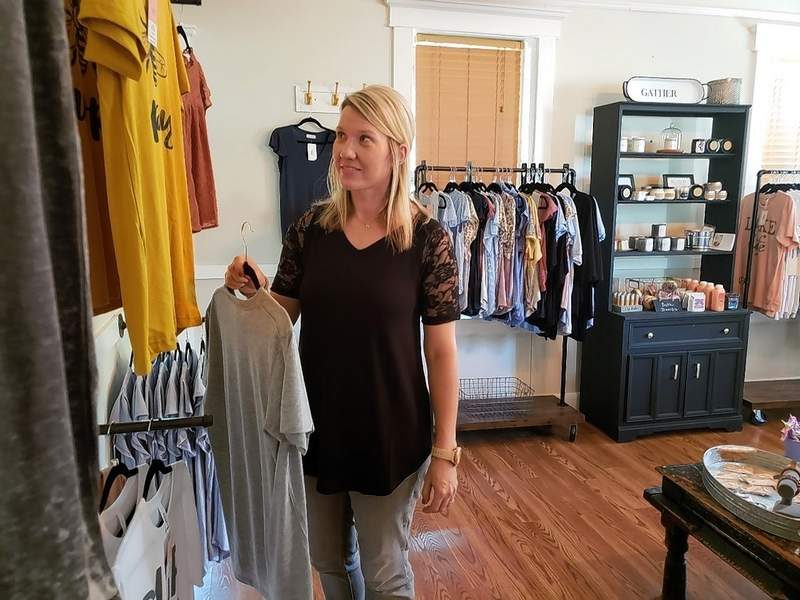 Kelly and Jason run a little boutique inside Rose House named for their daughter Olivia, with an eclectic collection of clothing, bath products, gifts, accessories and health and beauty products.