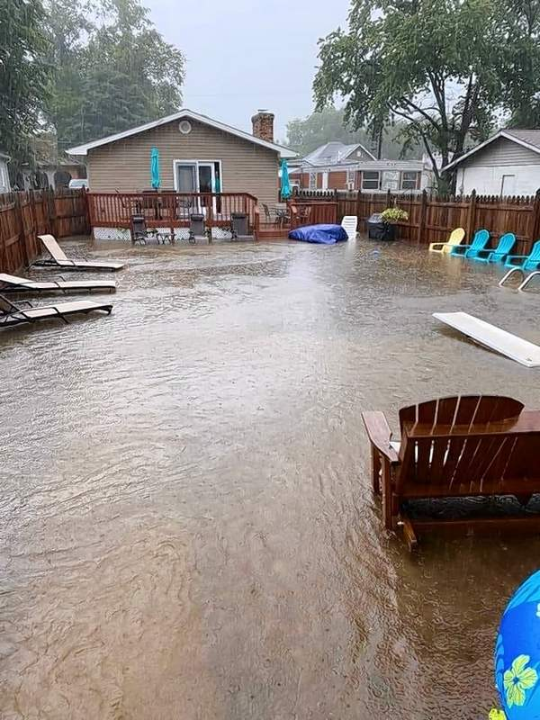 The in-ground pool in Vicki Moss Spencer's backyard got a lot bigger on Friday.